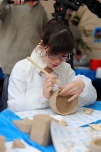 мастер-класс по гончарному искусству в интернате для слабовидящих детей