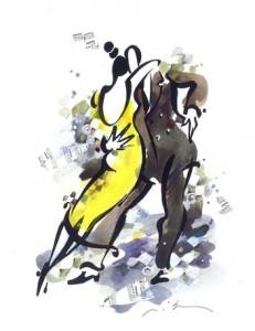 Миша Ленна — «Танго», акварель, графика