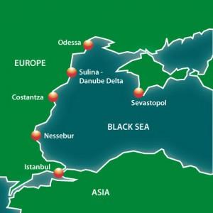 Карта черноморского круиза