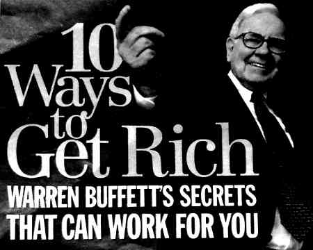 Warren Buffett tips for getting rich