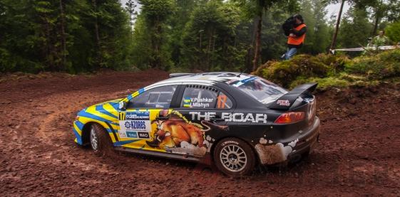 Виталий Пушкарь на четвёртом этапе ERC 2013