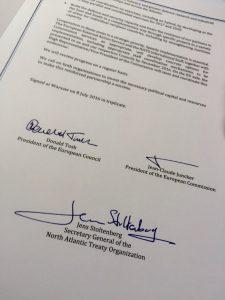 Jens Stoltenberg: Декларация о кооперации НАТО и ЕС —саммит НАТО в Варшаве