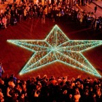 «Звезда памяти» из 1418 свечей от «Киевстар» в Одессе в память о каждом героическом дне Великой Отечественной войны