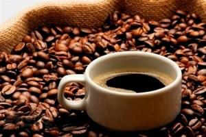 Кофейные зерна, чашка